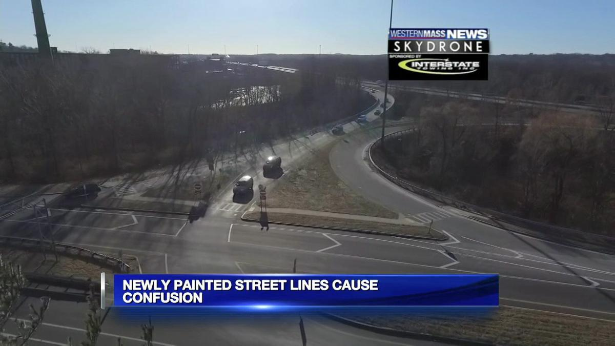 Newly painted street lines cause confusion for drivers in Chicopee