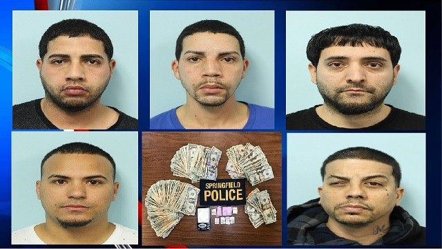 5 arrested after cocaine, cash, and 199 bags of heroin seized in Springfield