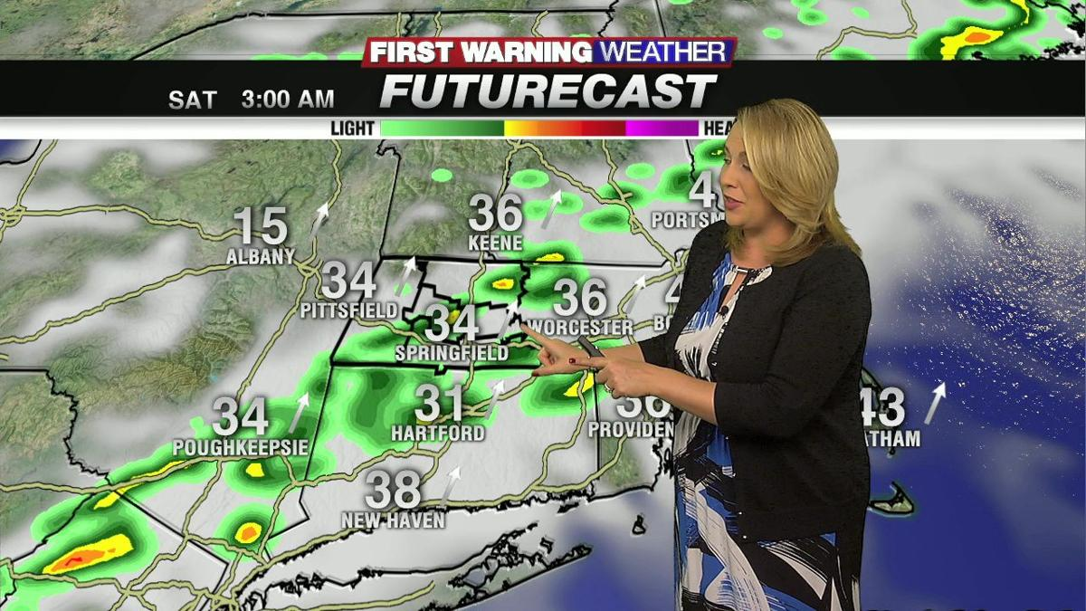 Gusty showers and a thunderstorm overnight