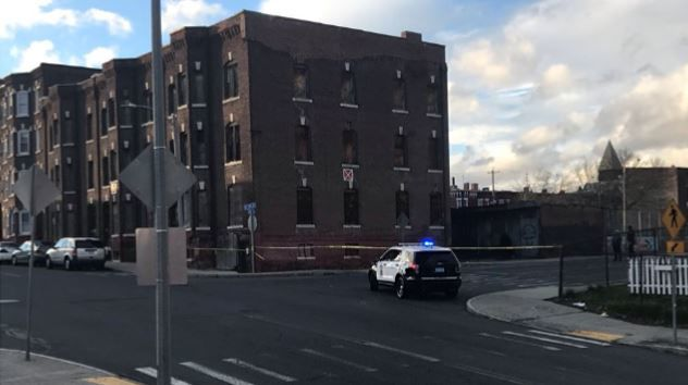 Section of Cabot St. in Holyoke blocked off following partial collapse of vacant building.
