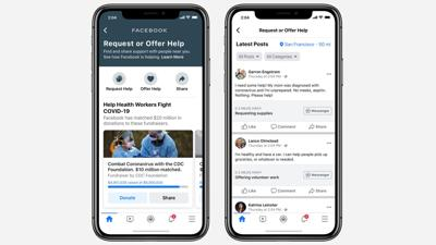 Facebook feature lets neighbors volunteer to help each other during pandemic