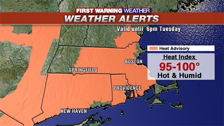 High heat and humidity lasting another two days in western Mass
