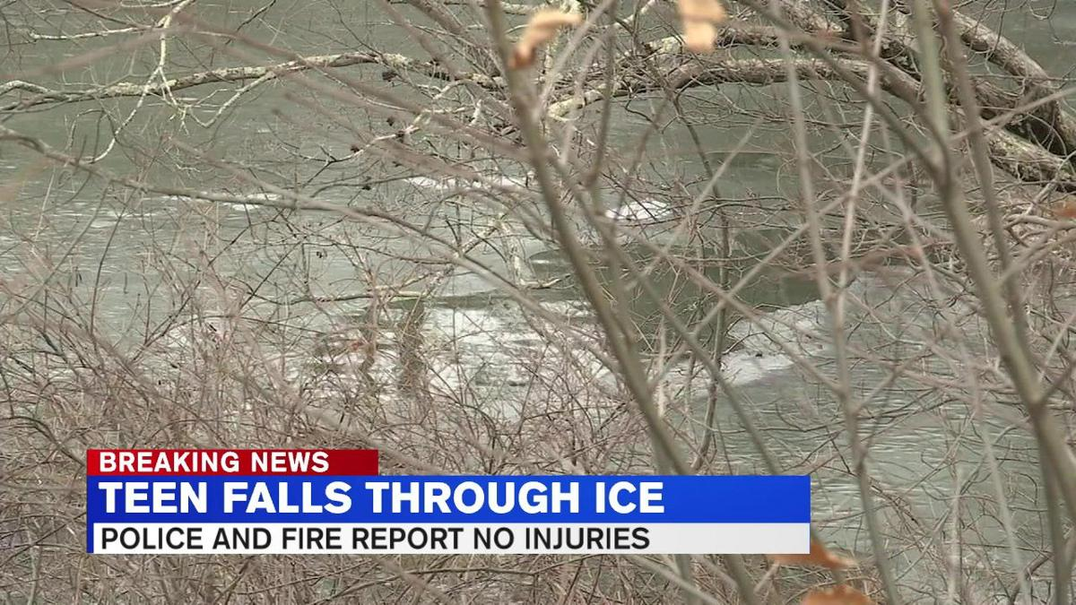Officials stress caution after teenager falls through ice at Springfield pond
