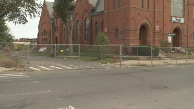 Holyoke mayor addresses concerns over church's new safety measure.