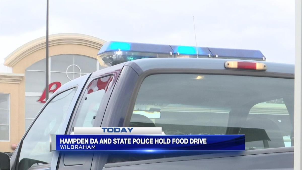 Hampden D.A. and State Police hold food drive in Wilbraham