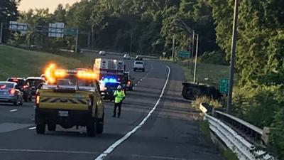 Authorities investigating after car and motorcycle collide on I-391 in Chicopee.