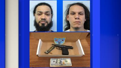 Two arrested in Springfield on gun charges.