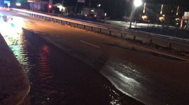 Portion of NB side of Rt. 5 in West Springfield closed due to water main break.