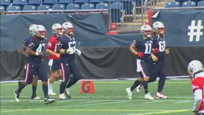 V PATS PRACTICE 4 days before season opener