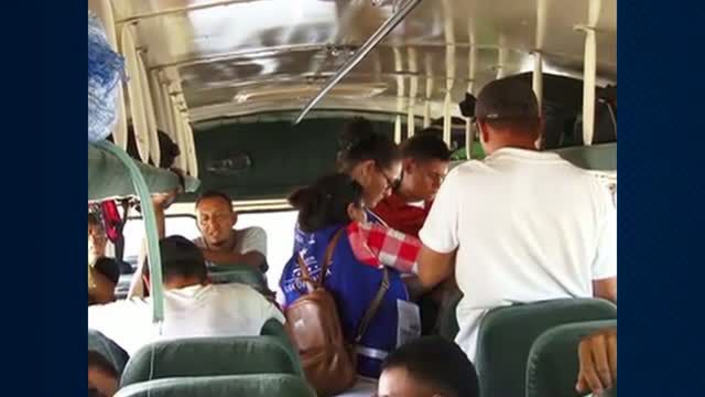 2,000 people in the migrant caravan return to Honduras from the Guatemala border with Mexico.