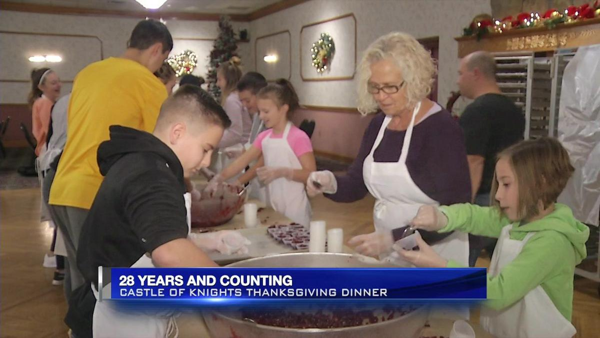 Preps underway for annual Thanksgiving dinner at Chicopee's Castle of Knights