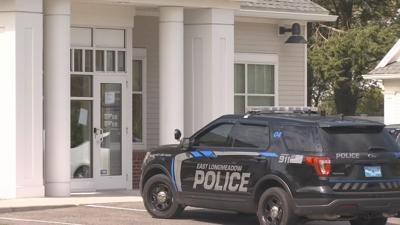 Nearby businesses on edge as police investigate two different robberies at same bank.