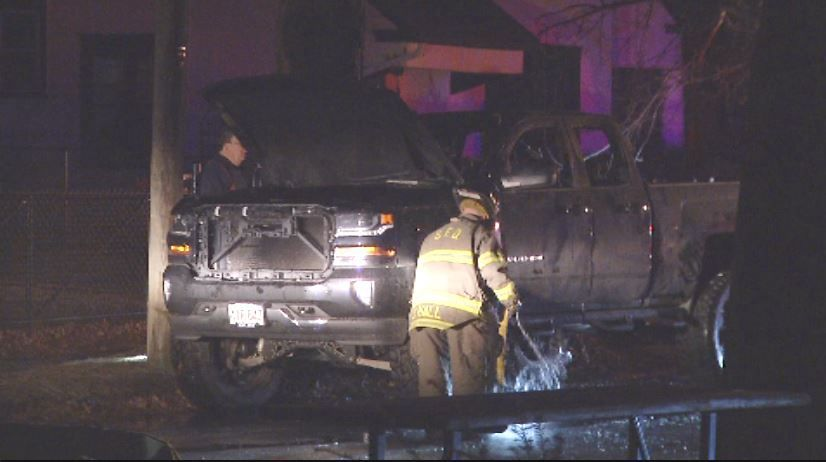 Crews battle early morning truck fire in Springfield