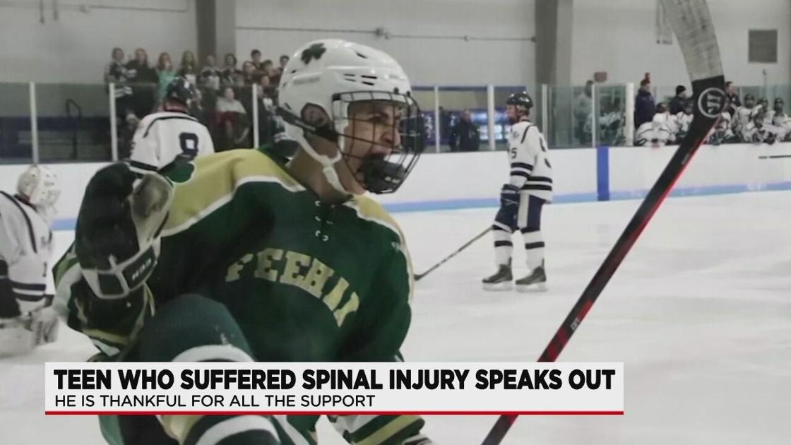 Injured HS hockey player speaks out for first time since West Springfield game