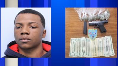 Springfield man arrested on drug, illegal firearm charges.