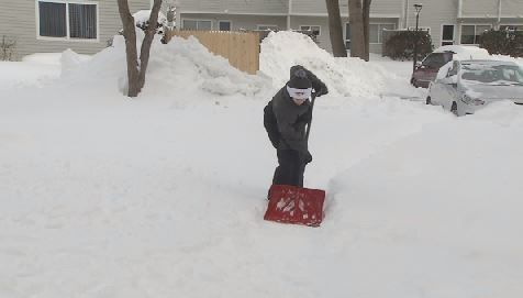 Doctors warn of possible injuries when shoveling snow