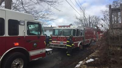 Crews respond to fire on Chase Rd. in North Brookfield.
