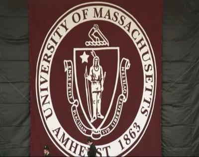UMass seal at commencement file