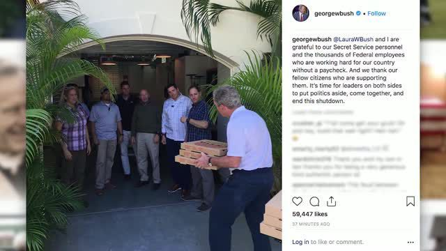 President George W. Bush delivered pizzas to his secret service agents during the shutdown.