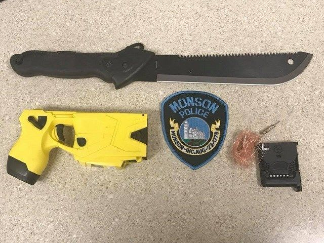 Monson PD: Man arrested after challenging officers with large knife