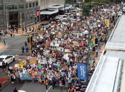 Students protesting worldwide for a call to action on climate change
