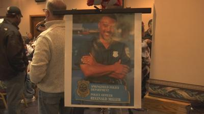 Community gathers to support Springfield Police lieutenant battling rare disorder.
