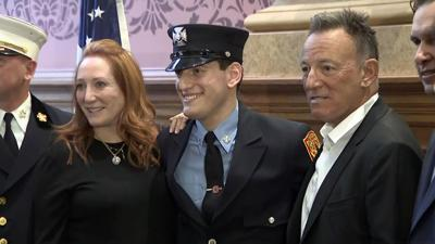 Sam Springsteen  is now a firefighter in New Jersey