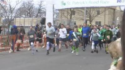 Thousands congregate to Holyoke to participate in annual St. Patrick's Day Road Race.