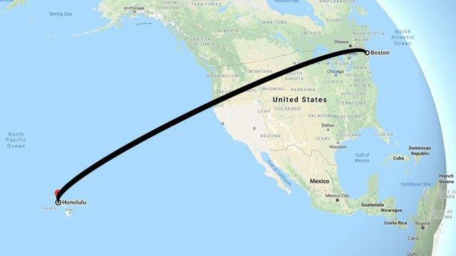 Longest nonstop flight within US announced: 11 hours from Boston to Honolulu