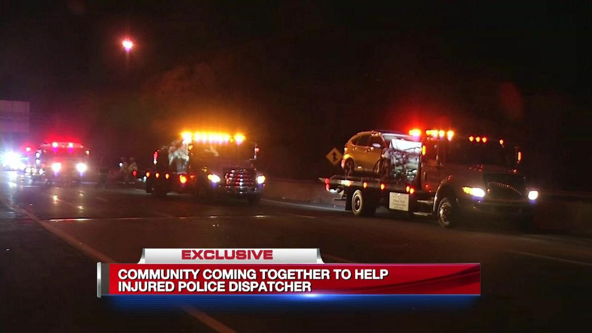 Community comes together for injured police dispatcher