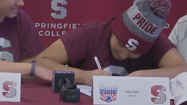 Springfield College softball team welcomes 12-year-old recruit