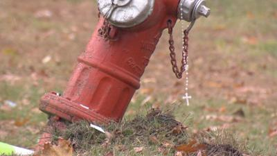 West Springfield deadly crash scene hydrant 110819