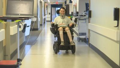 Springfield man recovering after breaking neck at Cape Cod beach.