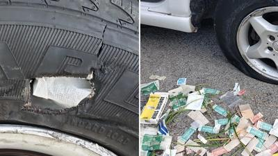 Man attempts to fix flat tires with gauze and band-aids