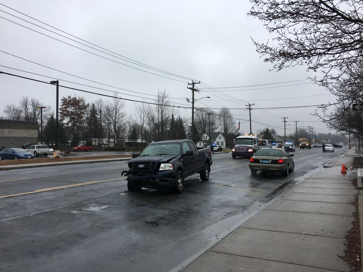 three transported to hospital following accident on boston road in