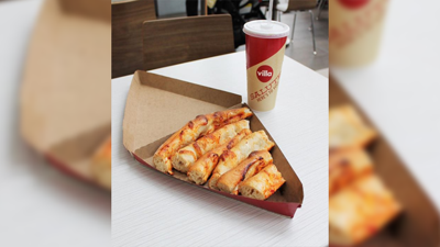 A pizza shop is selling a box of crusts