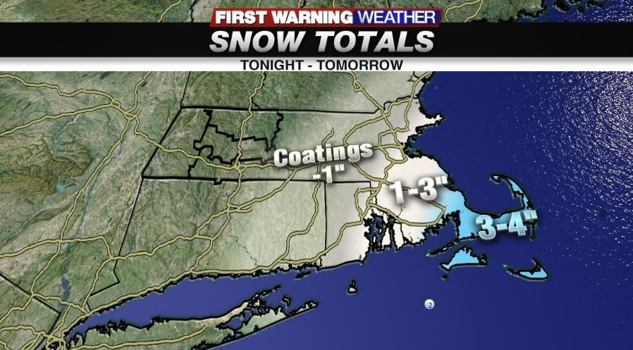Snow showers may lead to a slick AM commute