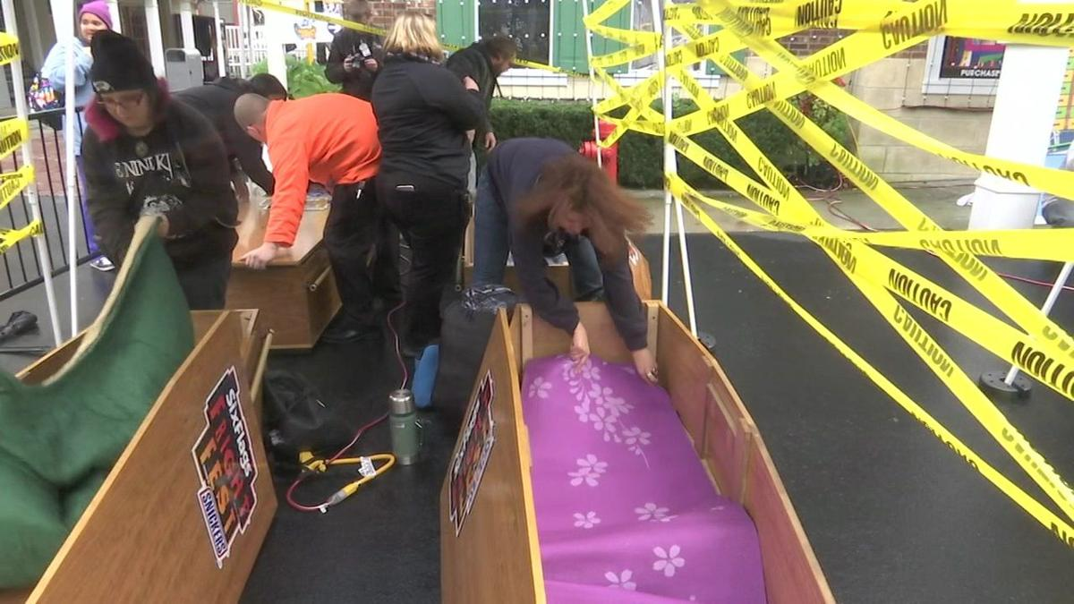 30-hour coffin stays rewarded with cash, Six Flags passes
