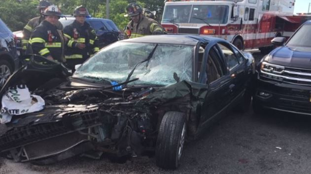 Police: vehicle pursuit is what led to multi-car crash on I-91 in Springfield.