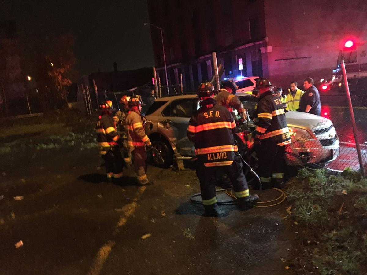 Two people rescued by firefighters in overnight crash in Springfield