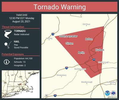 Tornado Warning - Worcester and Middlesex Counties