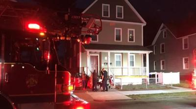 Crews work quickly to douse basement fire at Springfield home.