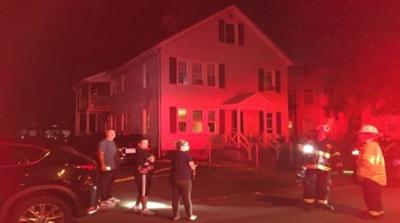 Nine displaced after fire rips through Springfield home.