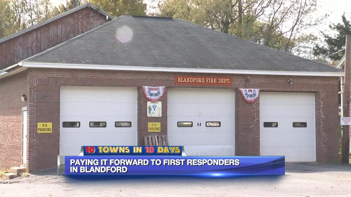 10 Towns paying it forward to Blandford's first responders
