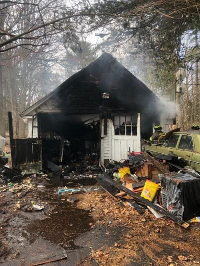 Firefighters called to garage fire in Amherst on Fearing St.
