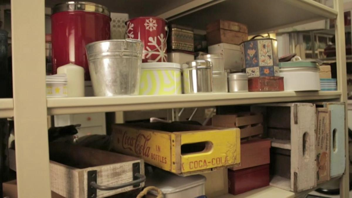 Inside the Better Homes and Gardens prop closet and photo studio