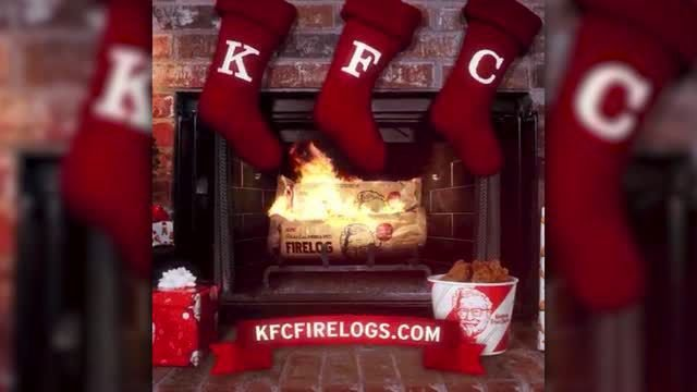 KFC is selling a log for your fireplace and it smells like fried chicken
