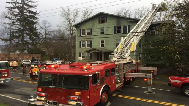 Two arraigned on charges related to April fire in Amherst