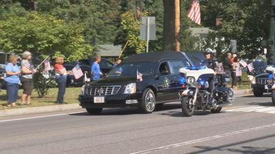 Solider funeral procession 090319