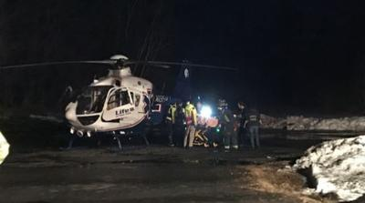 One person flown to hospital following car accident on Kinnie Brook Rd. in Worthington.